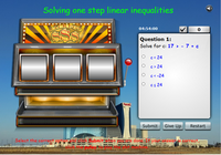 Solving multi-step linear equations slot machine game, solve for x multi-steps linear equations online activities