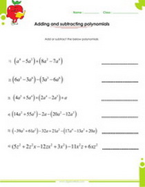 Printables Adding Subtracting Polynomials Worksheet factoring polynomials worksheets with answers and operations addition subtraction worksheet pdf printable
