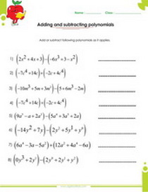Printables Adding And Subtracting Polynomials Worksheet factoring polynomials worksheets with answers and operations adding subtracting worksheet