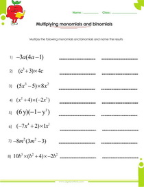 Printables Multiplying Polynomials Worksheets factoring polynomials worksheets with answers and operations multiplying monomials binomials