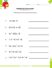 Printables Multiplying Polynomials Worksheet factoring polynomials worksheets with answers and operations multiplying worksheet