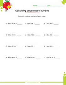ratios proportions percents fractions worksheets for th and th  calculating percentage of numbers worksheet ratio rates proportion  percent fraction