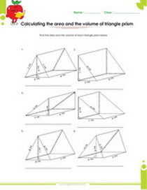 Solid figures, volume and surface area worksheets pdf