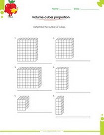 solid figures worksheet number of cubes that constitute a figure