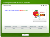 finding prime factors of given number penalty shootout game, factor trees and prime factorization game, prime and composite numbers game